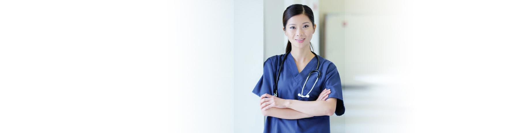 Asian Nurse Leaning